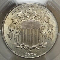 1876 SHIELD NICKEL, CHOICE UNCIRCULATED PCGS/CAC MINT STATE 64, BETTER DATE