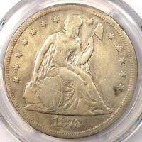 1872-CC SEATED LIBERTY DOLLAR $1 - PCGS GENUINE - VF/EXTRA FINE  DETAILS - CARSON CITY