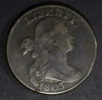 1803 DRAPED BUST LARGE CENT-VF