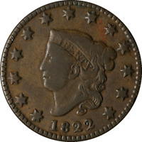 1822 LARGE CENT N.12 R.4 GREAT DEALS FROM THE EXECUTIVE COIN COMPANY