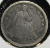 1853 HALF DIME 5 FIVE CENTS SILVER 90 TYPE COIN