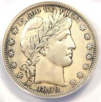 1899-S BARBER HALF DOLLAR 50C - ANACS AU50 DETAILS -  DATE - CERTIFIED COIN
