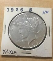 1926 S PEACE SILVER DOLLAR   AU SHIPS INSURED FREE
