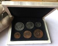 JORDAN 6 COINS PROOF SET 1965   MOTHER OF PEARL BOX