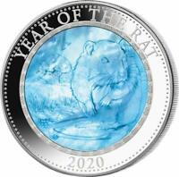 COOK ISLANDS 2020 25$ MOTHER OF PEARL   YEAR OF THE RAT LUNA