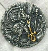 ANUBIS GODS OF ANGER 2019 2 OZ PURE ULTRA HIGH RELIEF SILVER