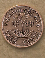 NEWFOUNDLAND TREE CENTS NOVELTY COIN