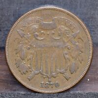 1870 TWO CENT PIECE - VF 21505
