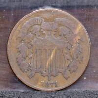 1871 TWO CENT PIECE - GOOD 21508