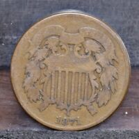1871 TWO CENT PIECE - VG 21509
