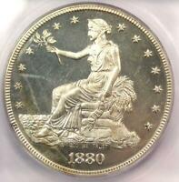 1880 PROOF TRADE SILVER DOLLAR T$1 COIN   CERTIFIED ICG PR60 DETAILS  PF60