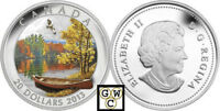 2013 'AUTUMN BLISS' COLORIZED PROOF $20 SILVER COIN 1OZ .9999 FINE  13276  OOAK