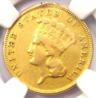 1884 THREE DOLLAR INDIAN GOLD COIN $3   NGC VF DETAILS   JUST 1000 COINS MINTED