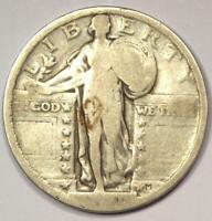 1921 STANDING LIBERTY QUARTER 25C - STRONG DETAILS -  DATE COIN