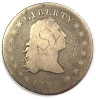 1795 FLOWING HAIR SILVER DOLLAR $1 -  EARLY COIN