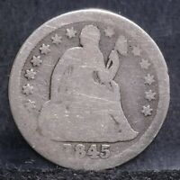 1845 SEATED LIBERTY DIME - GOOD 21977