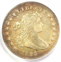 1795 DRAPED BUST SILVER DOLLAR $1 COIN, SMALL EAGLE - ANACS VF35 DETAILS
