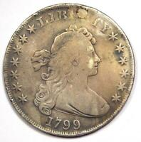 1799 DRAPED BUST SILVER DOLLAR $1 - FINE DETAILS PLUGGED -  TYPE COIN