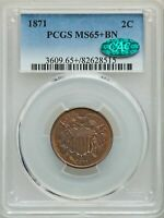 1871 2C CAC MINT STATE 65 PCGS AD738954183