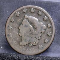 1830 LARGE CENT - AG 22115