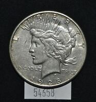 WEST POINT COINS  1928-S PEACE SILVER DOLLAR $1