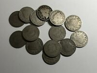 LOT OF 14 LIBERTY V NICKELS  EXACT COINS SHOWN 1900 - 1912