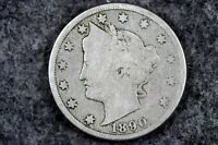 ESTATE FIND 1890 -  W/CENTS LIBRETY HEAD V NICKEL  H6201