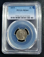 1875 3 CENT NICKEL PCGS PR64 -  - ONE WITH ONLY 76 GRADED HIGHER IN PCGS