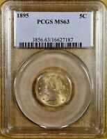 1895 PCGS MINT STATE 63 LIBERTY NICKEL