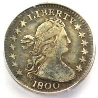 1800 DRAPED BUST HALF DIME H10C COIN - CERTIFIED ICG VF30 - $3,250 VALUE