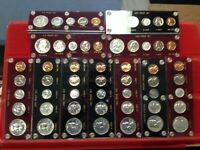 COMPLETE RUN 1954 TO 1964 SILVER PROOF SETS U.S. ISSUE CAPIT