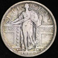 1917-S TYPE 1 STANDING LIBERTY QUARTER CHOICE EXTRA FINE  SHIPS FREE E293 AMT