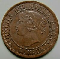 1859 CANADA LARGE 1   ONE   CENT CANADIAN COIN QUEEN VICTORIA HAXBY PC59 191