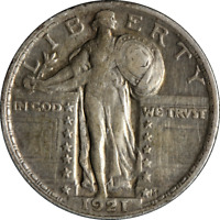 1921-P STANDING LIBERTY QUARTER CHOICE EXTRA FINE  KEY DATE GREAT EYE APPEAL