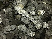 LOT OF 100 MERCURY DIMES CIRCULATED VARIOUS DATES & CONDITIO