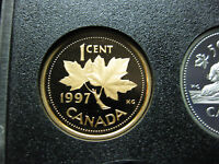 1997 UNC FROSTED PROOF CANADIAN PENNY ONE CENT   1 CENT COIN