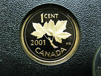 2001 CANADIAN PROOF PENNY ONE CENT   1 CENT