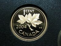 2004 CANADIAN PROOF PENNY ONE CENT   1 CENT