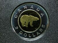 2005 CANADIAN SILVER PROOF TOONIE  $2.00    TONED