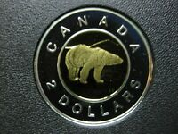 1999 CANADIAN SILVER PROOF TOONIE  $2.00    TONED