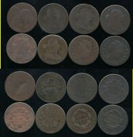 LOT OF 8 MIXED LARGE CENTS  1794 1798 1802 1803 1803 1807/6
