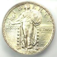 1919-S STANDING LIBERTY QUARTER 25C COIN - CERTIFIED ICG MINT STATE 65 - $6,190 VALUE