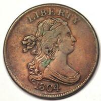 1804 DRAPED BUST HALF CENT 1/2C - STRONG EXTRA FINE  DETAILS -  COIN