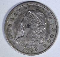1832 CAPPED HALF DIME, VF