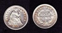 1857-O LIBERTY SEATED SILVER HALF DIME - MINT LUSTER