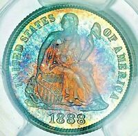 1888 10C PCGS PR66 CAC SEATED LIBERTY DIME ONLY 7 HAVE GRADED HIGHER BY PCGS