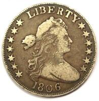 1806 DRAPED BUST HALF DOLLAR 50C - FINE / VF DETAIL CONDITION -  EARLY COIN