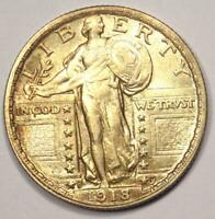 1918-S STANDING LIBERTY QUARTER 25C - EXCELLENT CONDITION -  DATE COIN