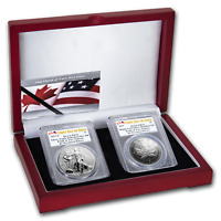 2019 RCM PRIDE OF TWO NATIONS 2 COIN SET PR 70 PCGS  FD    SKU195015