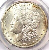 1897-O MORGAN SILVER DOLLAR - PCGS AU55 -  DATE IN AU55 - NEAR MS/UNC